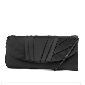 Jessica McClintock Angel Satin Tuxedo Flap Clutch